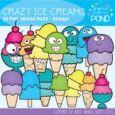 Crazy Ice Cream Clipart Set