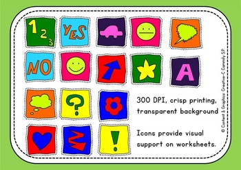Crazy Icons - Icons, lines, corners - Clip art - Commercial Use {Creative-C}
