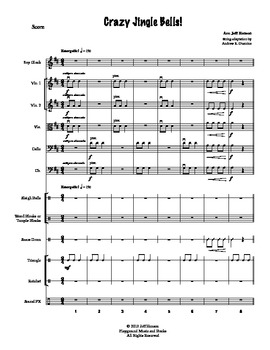Crazy Jingle Bells! for Orchestra and Percussion
