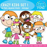 Crazy Kids Clipart - Set 1