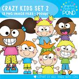 Crazy Kids Clipart - Set 2