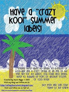 Crazy Kool Summer labels