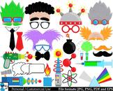 Crazy Lab Props - Digital Clipart, Clip Art Graphics - 129