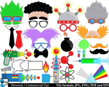 Crazy Lab Props - Digital Clipart, Clip Art Graphics - 129