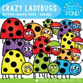 Crazy Ladybugs Clipart