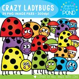 Crazy Ladybugs Clipart
