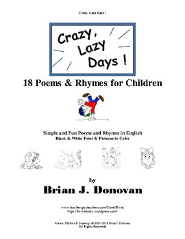 Crazy, Lazy Days!  18 Poems & Rhymes for Children