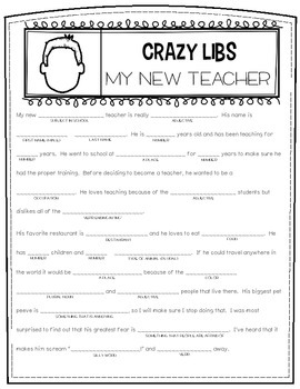 Crazy Libs- A Mad Libs Style Activity for the Classroom
