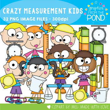 Crazy Measurement Kids Clipart