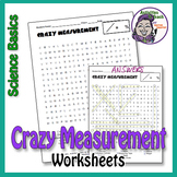 Crazy Measurement Word Search Worksheet