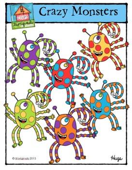 Crazy Monsters {J4 Clips Trioriginals Digital Clip Art}