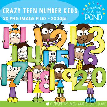 Crazy Teen Number Kids