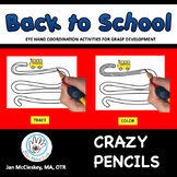 Fine Motor Crazy Pencils!  BACK TO SCHOOL Themed Tracing Activities!