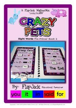 Crazy Pets Sight Word MagnetMat Fun