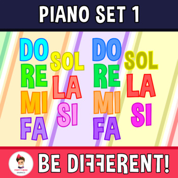 Crazy Piano - Musical Lesson 1 (Monsters) Clipart