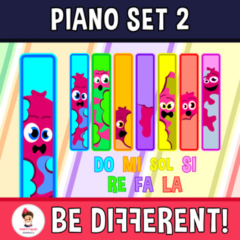 Crazy Piano - Musical Lesson 1 (Hot Dogs) Clipart