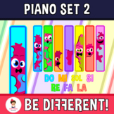 Piano Clipart Set 2 (Hot Dogs)