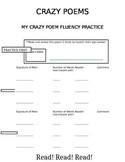 Crazy Poem Fluency Practice