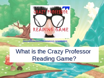 Crazy Professor Reading Game Introduction