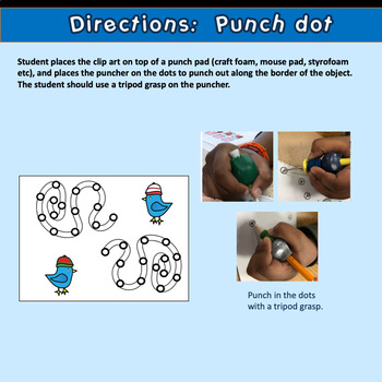 Fine Motor Crazy Punch Dots!  Winter Themed Activities for Math Center Time!
