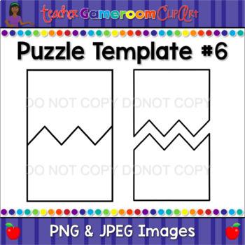ZigZag Puzzle Template #6