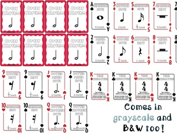 Crazy Rhythm Card Game (British Version)