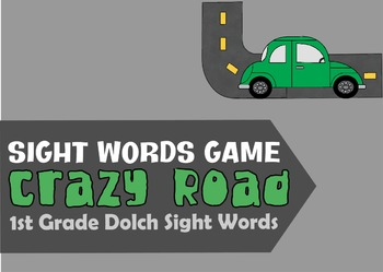 Crazy Road Sight Words Game (1st grade Dolch Sight Words)