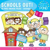 Crazy Schools Out Clipart