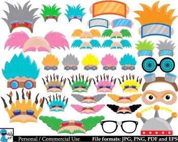 Crazy Scientist Props - Digital Clipart, Clip Art Graphics 195 images cod221