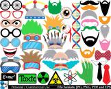 Crazy Scientist Props - Digital Clipart, Clip Art Graphics