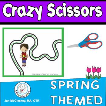 Fine Motor Crazy Scissors!  SPRING THEMED  Scissors skills centers
