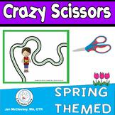 Fine Motor Crazy Scissors!  SPRING THEMED  Scissors skills