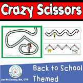 Fine Motor Crazy Scissors!  BACK TO SCHOOL THEMED Activities for Centers