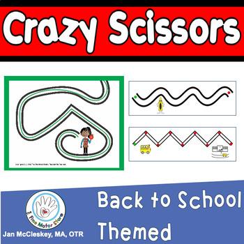 Scissors Skills  BACK TO SCHOOL THEMED  Activities