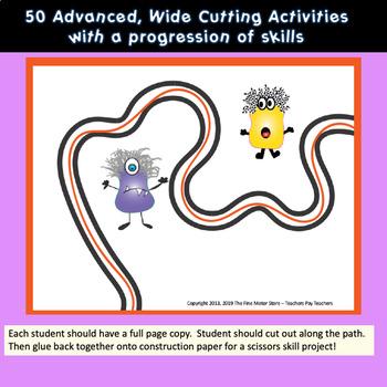 Fine Motor Crazy Scissors!  HALLOWEEN THEMED Activities for Centers