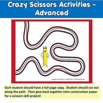 Crazy Scissors Skills Bundle for Fine Motor Skills