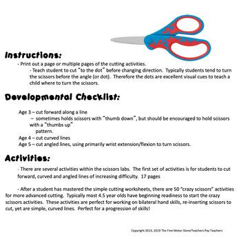Fine Motor Crazy Scissors!  WINTER THEMED  Skills Activities for Centers