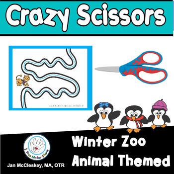 Fine Motor Crazy Scissors!  WINTER THEMED  Skills Activiti