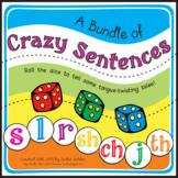 Crazy Sentences Bundle: S, L, SH, CH, J, TH, R Speech Ther
