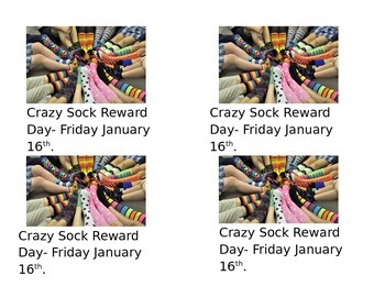 Crazy Sock Day Note