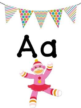 Crazy Sock Monkey Alphabet