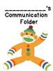 Crazy Sock Monkey Communication Folders