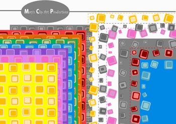 Crazy Squares Borders, Frames & Digital Paper