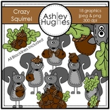 Crazy Squirrel Clipart {A Hughes Design}