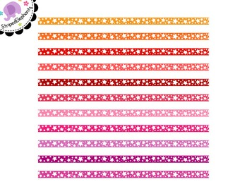 Crazy Star Digital Ribbon Borders