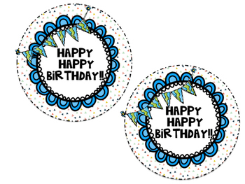 Crazy Straw Birthday Tags