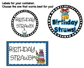"Monster Birthday ""Crazy Straw"" Tags!"