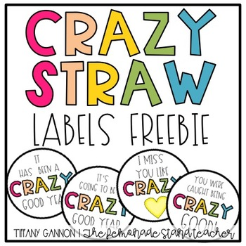 Crazy Straw Labels