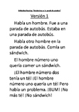 Crazy TPRS Story: El Sándwich Embedded Reading BUNDLE (Spanish 1)