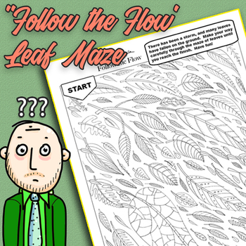 'Follow the Flow' Leaf Maze.